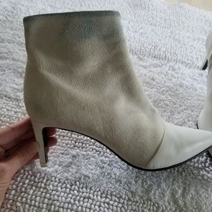 Rag and bone Beha white suede booties